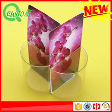 hot sale transparent flower picture remote control receive storage box holder