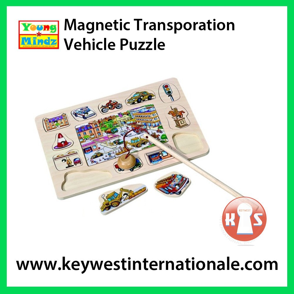 Magnetic Transportation Vehicle Puzzle