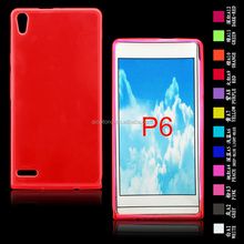 low price mobilephone tpu clear gel case from Huawei P6