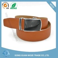 hot leather belt man belt made in cn with ratchet automatic buckle