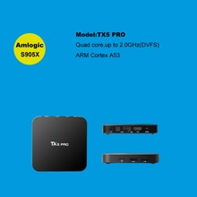 TANIX TX5 Pro Android 6.0 Amlogic S905X Quad Core TV Box 2G/16G 4K HD Dual WiFi Google Streaming Media Player