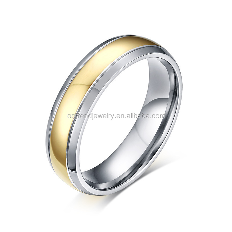 Dome flat effect finger ring titanium material