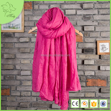 Wide silk scarves shawl over 96% cotton scarf