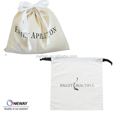 natural color wholesales customized dust cotton drawstring bag
