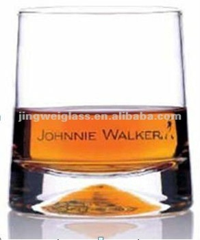 new designed concave bottom whisky glass cup