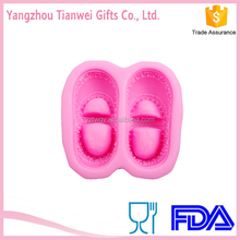 Silicone rubber lovely 3D baby shoes soap moulds Silikon sabun kalb soap moulds