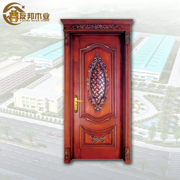 Alibaba top supplier wooden double fire rated door designs for houses in kerala project use