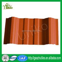 trapezoidal buildings materials pvc corrugated roof tiles