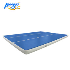 Wholesale High Quality Fitness Rectangular Blue Cheap Air Track Mat, Air Tumble Track for Gym