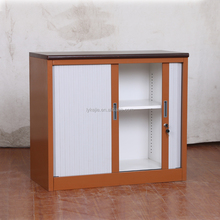 Small lockable double rolling shutter doors kitchen cabinet for sale