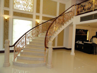 Luxury Copper indoor Stair Handrails for villa