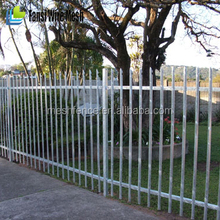 landscape edging in-ground and bolt-down posts china supplier durable Trident galvanized palisade fence