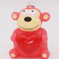 Customized Pink monkey Plastic Keychain, Make Animal Decoration Gift Key chain,3D Keychain Making