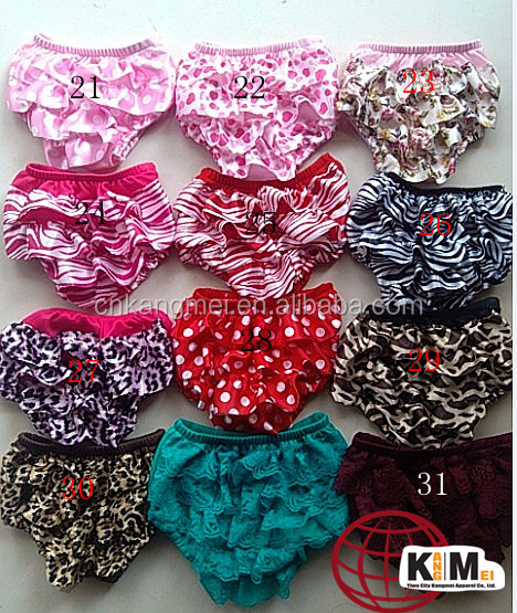 Newest!Fashion Baby Bloomers Ruffled Lace Pants Bloomer Cute Child Girl Underwear Rainbow Baby Bloomers Diaper Covers