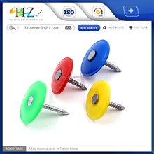 stainless steel ring shank roofing Plastic Cap Nail