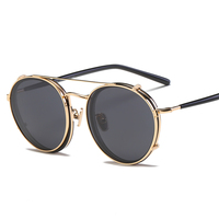 2019 new arrival double circle polarized clip on Sunglasses and unisex optical spectacle frame