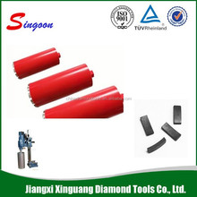 Turbo Segment Dry Diamond Core Drill Bit for Granite Marble Stone