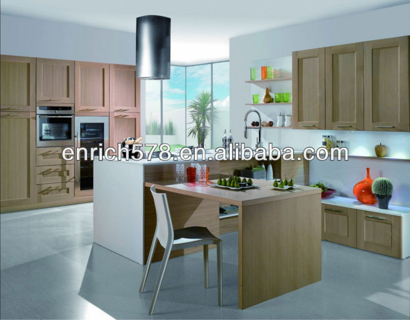 Customizing Thermofoil shaker door kitchen cabinet pantry(EK0064)