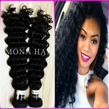 Cut from young lady directly full cuticle healthy human hair weft curly real indian hair for sale