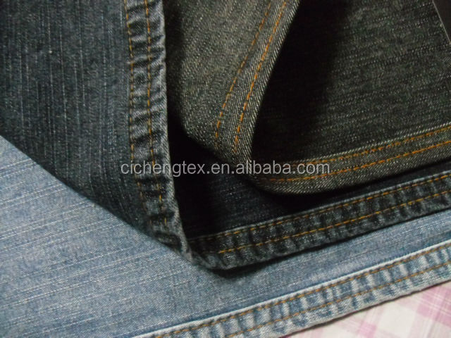 shaoxing textile high quality jacket fabric 10oz cotton/spendex slub denim jeans fabric material