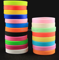 OEM design various styles ink filled embossed debossed soft silicone bracelet wristband