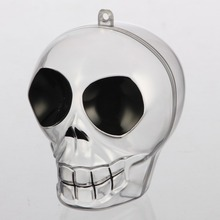 Kwang Hsieh Fancy Skeleton Head Shaped Clear Mini Plastic Container Box