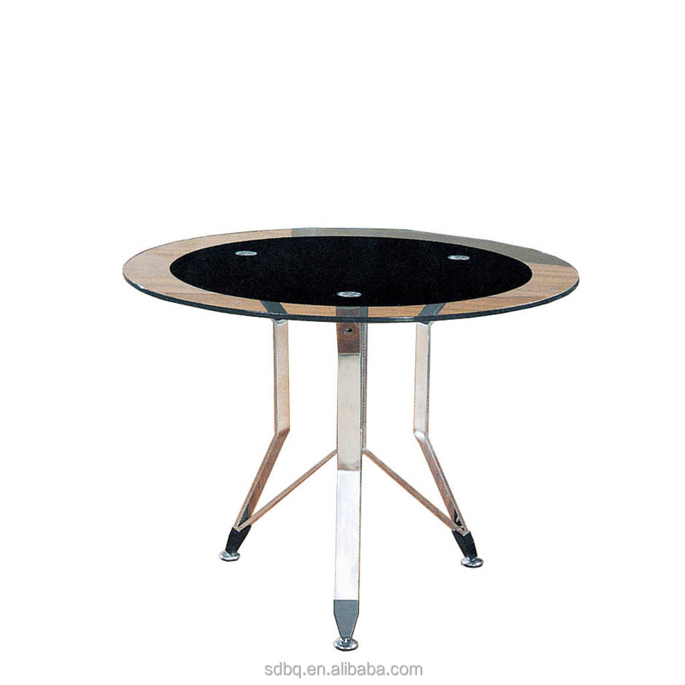 PT-M008 office Break Room Chatting table tea room glass top table circular glass coffee table