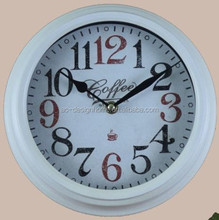 COFFEE ROUND METAL WALL CLOCK