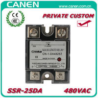 CANEN 25A DC to AC SSR Relay/Solid State Relay Made in China with OEM