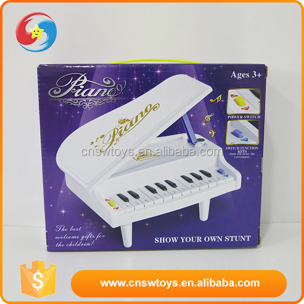 Kids funny musical teaching electronic battery operated plastic toy piano keyboard