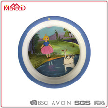 Standard size insulated charge plate melamine dinner plate for children