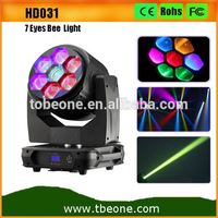 High Power 7X15W RGBW 4in1 LED Zoom Bee Eye Wash Moving Head Stage Lights