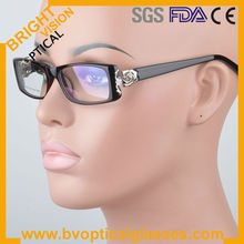Bright Vision 9345 full rim rectangle decorated eyewear