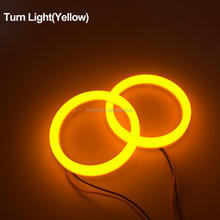 high quality 80mm/95mm double colors 3W 300LM led cotton angel eyes led halo rings