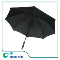 30inch black color manual open windproof men's large umbrella