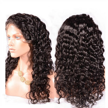 Natural hairline 100% virgin Brazilian hair burmese curly full lace wig human hair full lace wig with baby hair