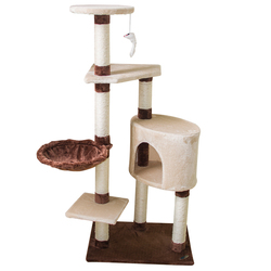 Multicolor Driftwood Sisal Post Cat Tower Cave