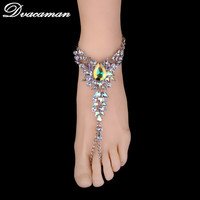 Dvacaman Fashion Bracelet Wedding Foot Sandals