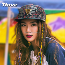 Tlove 2017 sport 100%cotton boutique colorful embroider cap,custom 3d embroidery hat,baseball caps9611