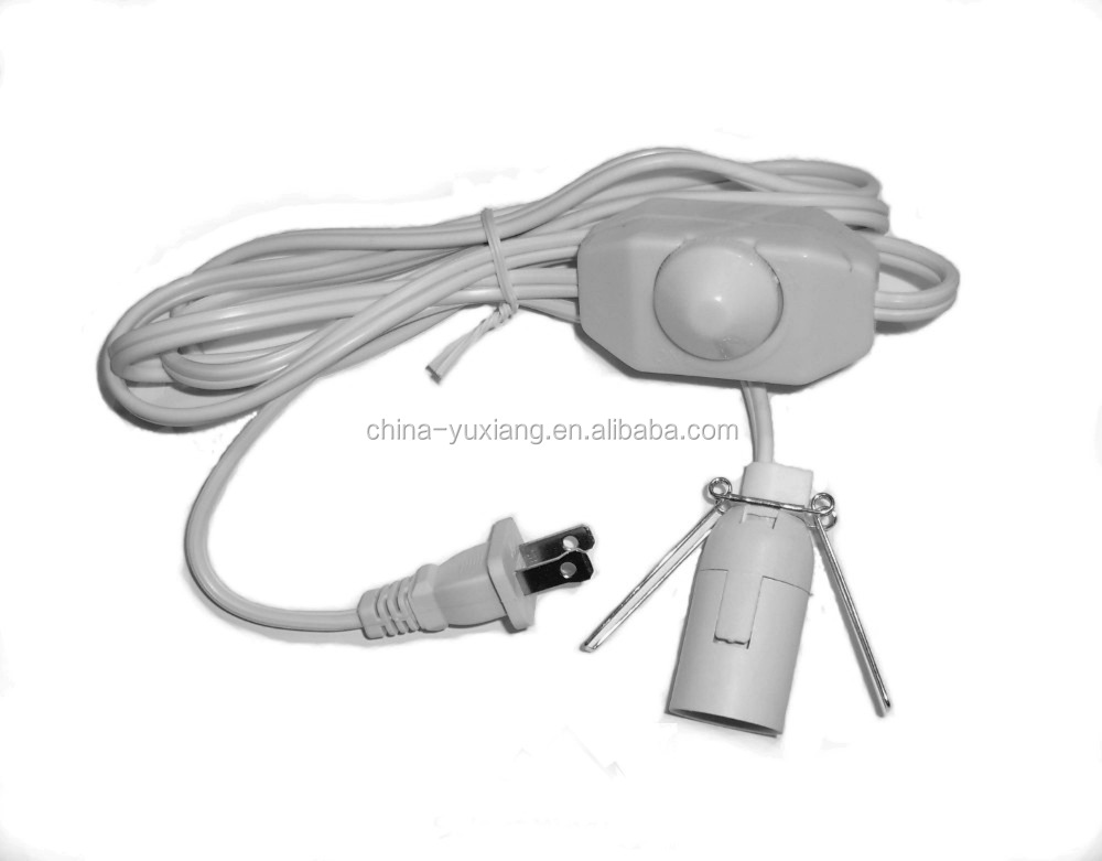 E12 lamp holder with dimmer switch cord kit