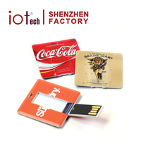 2015 Top Selling Top Quality Square Business Card Flash Drives No Case