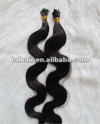 high quality I-tip hair extensions, stick hair Grade AAA