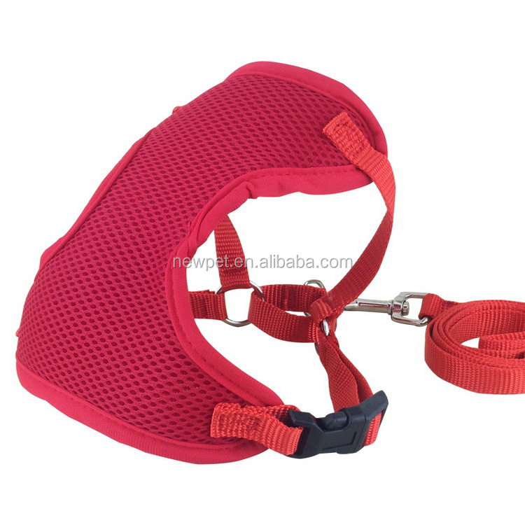 Durable service hot selling lightweight mesh dog harness large dogs collar