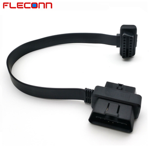 16 pin Male to Female T Shape Connector OBD ii Adapter OBD2 Flat Ribbon Cable