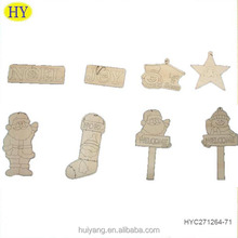 wholesale wood hanging small art craft for Christmas tree decoration