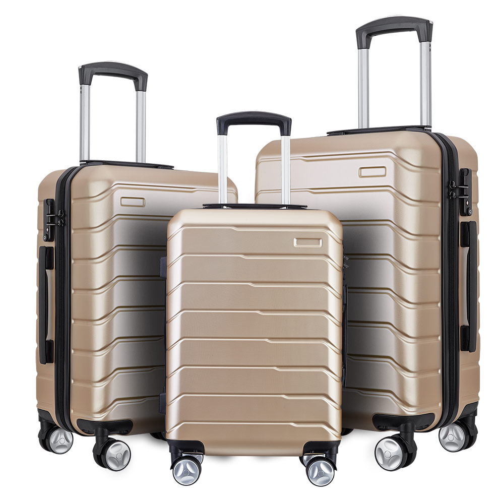 China factory 2019 new style <strong>ABS</strong> with PC luggage sets