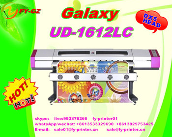 1.6m/1.8m/2.1m/2.5m /3.2m DX5 Print Head Galaxy Eco Solvent Printer Wide Format printing machine