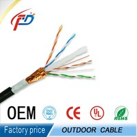 Outdoor Cat6 Network communication Cable With 0.9mm 1.3mm Messenger Wire