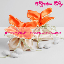 """Lucky Four Leaves"" Shapes Wedding Candy Favor Satin Bags European Sweet Silk Candy Bags"