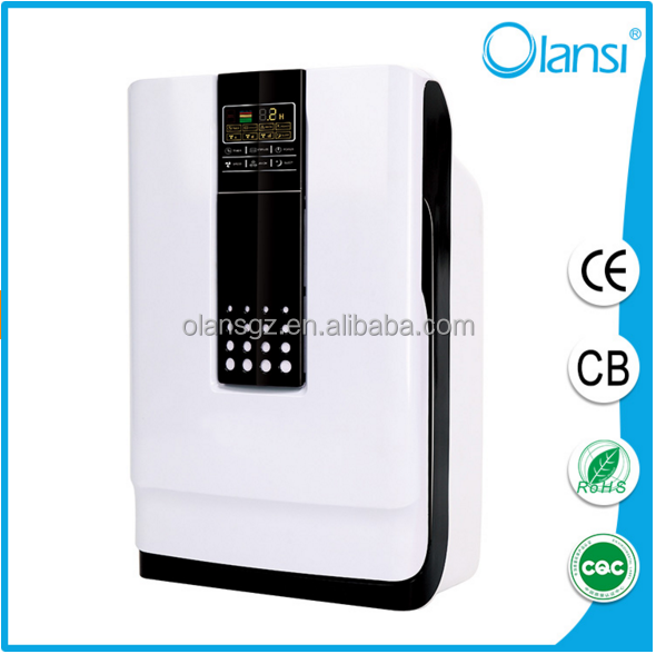Portable home air cleaner, activated carbon UV Olans HEPA ionizier household air purifier with negative ion